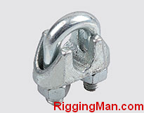 THAILAND TYPE MALLEABLE WIRE ROPE CLIP, ZP