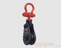 SNATCH BLOCK HEAVY DUTY TYPE WITH SHACKLE