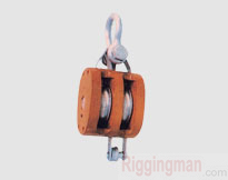 REGULAR WOOD BLOCK,DOUBLE WHEEL WITH SHACKLE